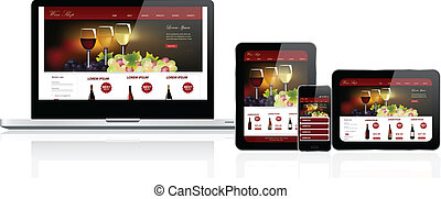 site web, multiple, gabarit, appareils