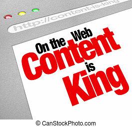 site web, roi, articles, écran, contenu, trafic, fe, augmentation, plus
