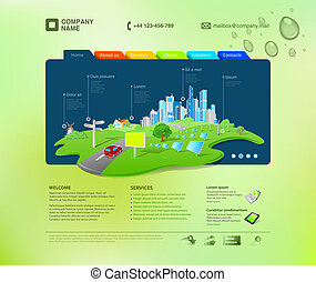 site web, template., infographics
