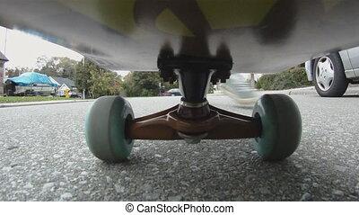 skateboard., &, commencer, stopping.