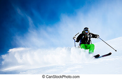 ski, homme