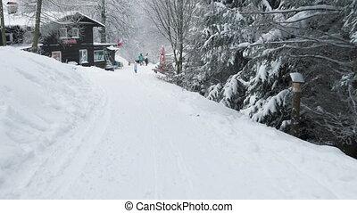 ski, jour, hiver, recours