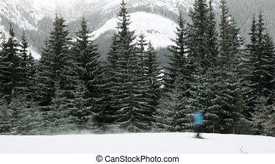 skieurs, piste