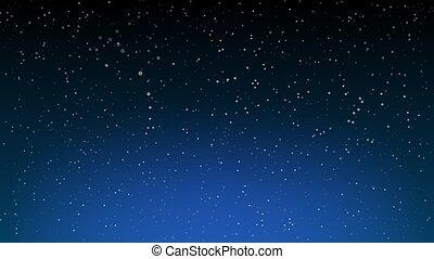 sky., espace, vecteur, illustration, étoiles, nuit, arrière-plan.