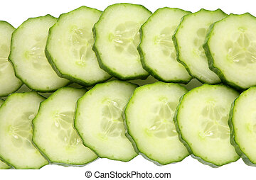 slices., concombre