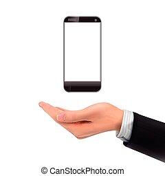 smartphone, 3d, tenant main
