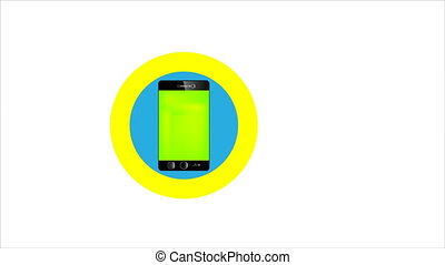 smartphone, business, icône