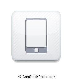 smartphone, eps10, app, vecteur, icon., blanc
