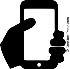 smartphone, fond blanc, vecteur