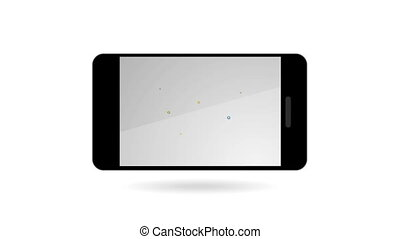 smartphone, icônes, communication mobile, global, social