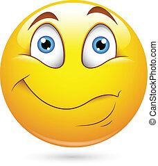 smiley, caractère, surpris, figure