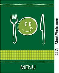smiley, menu, restaurant, conception