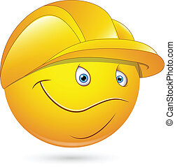 smiley, ouvrier, constructional
