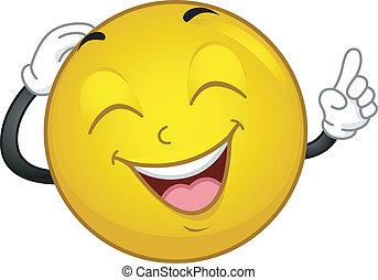 smiley, rire