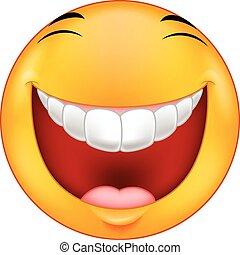 smiley, rire, dessin animé