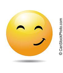 smiley, type caractère jaune
