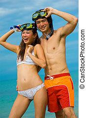 snorkelling, plage