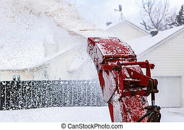 snowblower, clearing, tracteur