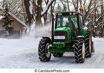 snowblower, tracteur, clearing