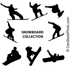 snowboard, silhouettes, collection