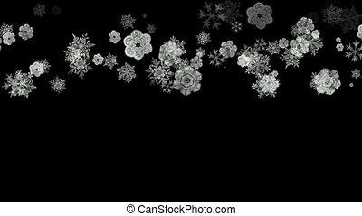 snowflake blanc, tomber