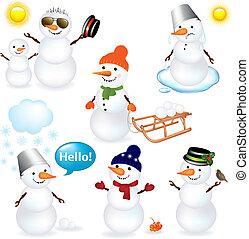 snowmen, collection
