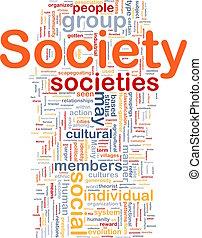 société, concept, fond