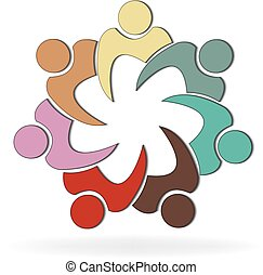 social, logo, gens, collaboration, média