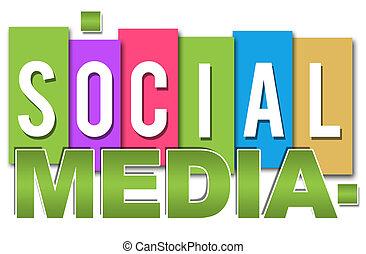 social, média, coloré, professionnel