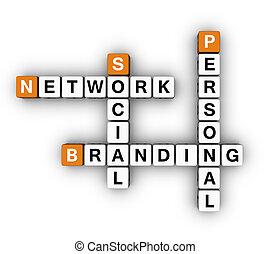 social, personnel, marquer, réseau
