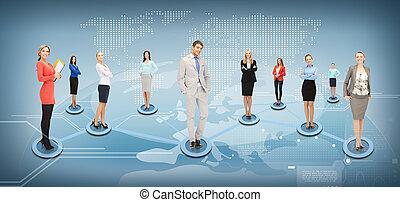 social, réseau, business, ou