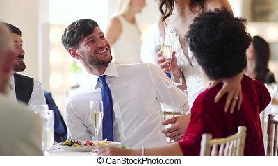 socialising, leur, couple, mariage