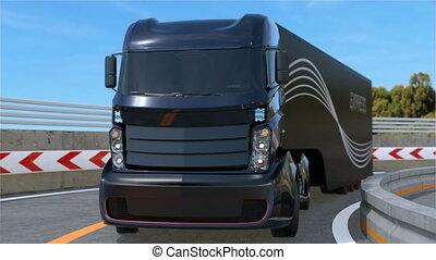 soi, conduite camion, autoroute