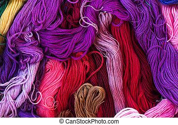 soie, iridescent, fil, clair