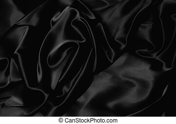 soie, noir