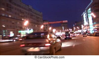 soir, rue, conduite