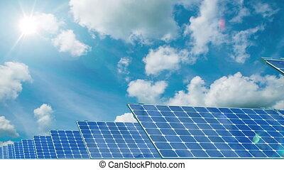 solaire, panels.