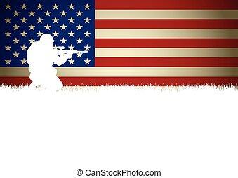 soldat, américain