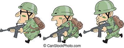 soldats, courant