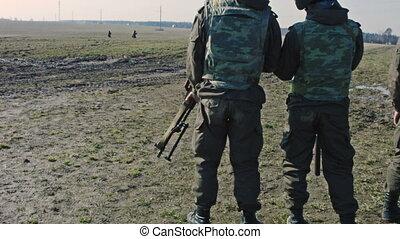 soldats, fusils, ranks.