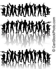 soldats, groupe