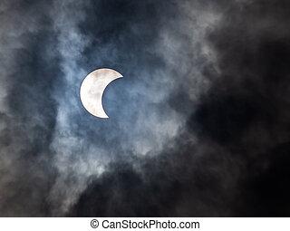 soleil, éclipse, phenomenon.