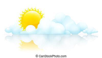 soleil, 10eps, nuages