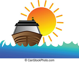 soleil, bateau