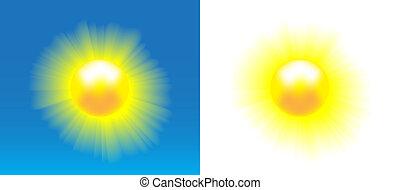 soleil brille