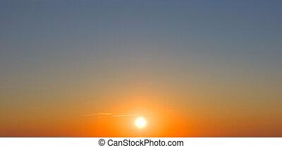 soleil, ciel coucher soleil