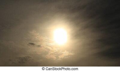 soleil, ciel, morose