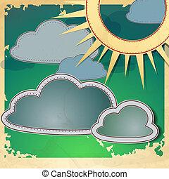 soleil, clouds.