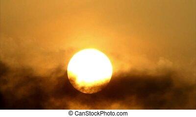 soleil, derrière, cloud3, matin