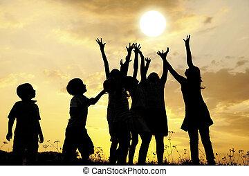 soleil, enfants